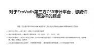 EcoVadis审核结果评分等级解读?什么是EcoVadis?